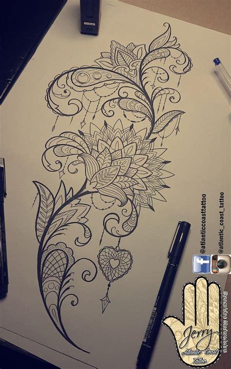 tattoo ideas designs mandala lace flowers
