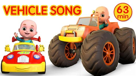 Car Videos  Monster Trucks  Vehicle Song Nursery