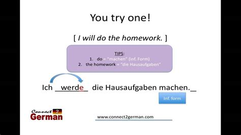 """How To Express The Future Tense In German, Part 1 """"werden"""