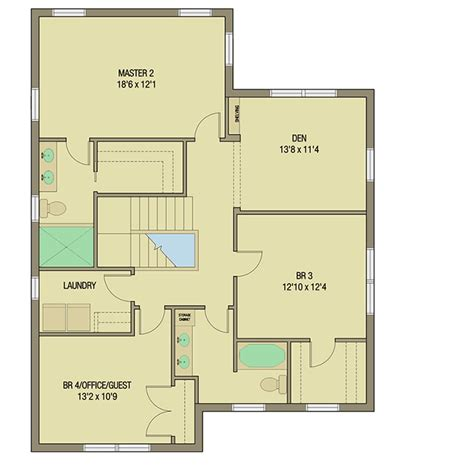 Master Suite House Plans by Bungalow House Plan With Two Master Suites 50152ph