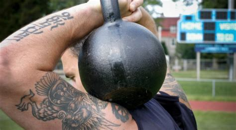 kettlebell circuit crushed bells hell kettlebells muscle training exercise essential master greater strength growth solid bodyweight tweet comments muscleandfitness