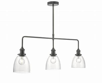 Arvin 3lt Chrome Pendant Antique Bar Glass