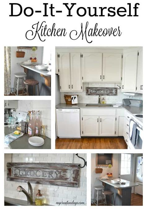 do it yourself kitchen makeover do it yourself kitchen makeover my creative days 8786