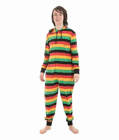 Onesie Adult Reggae Pajamas Onesies Funzee Striped