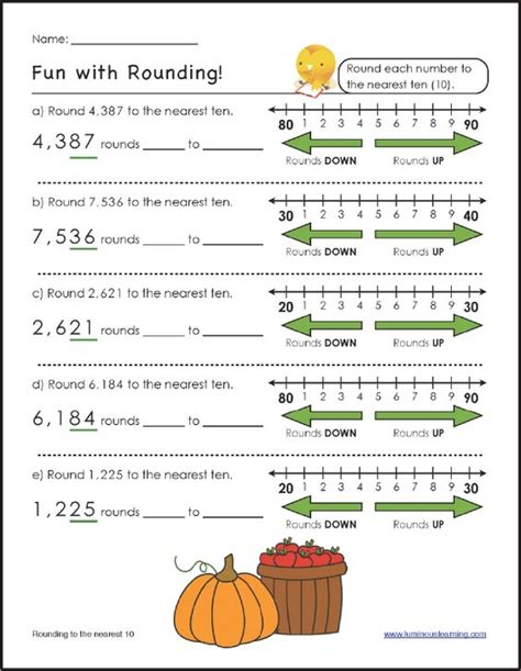 rounding worksheets student and paper on