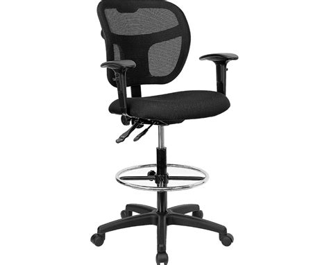 flash furniture mesh drafting chair with arms wl a7671syg