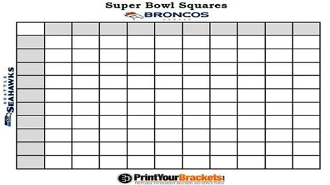 Bowl 2015 Squares Template by Superbowl 2015 Squares New Calendar Template Site