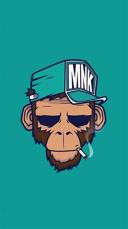 Cool Monkey Iphone Wallpapers Backgrounds Smoking Illustration
