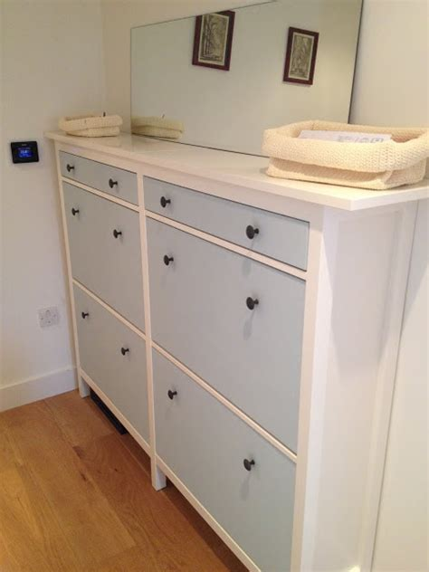 ikea hemnes bathroom cabinet hack wedded hemnes shoe cabinets twined and painted ikea