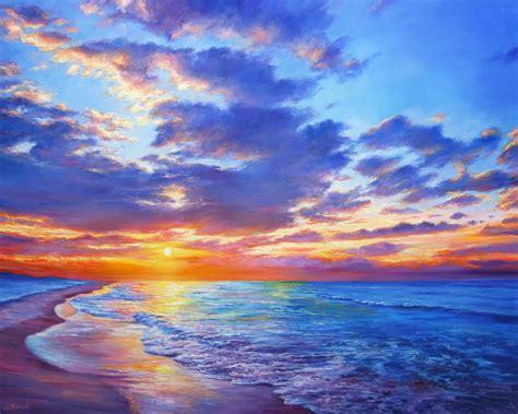 Sunset Dreams - Large Seascape Painting   Artfinder