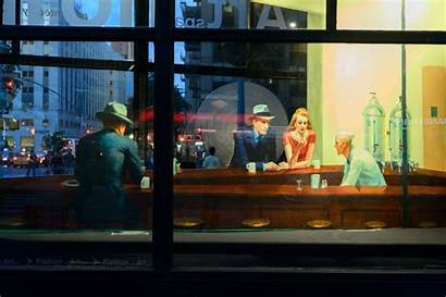 Painting Nighthawks Famous 3d Been