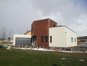 maison d39architecte bois cubique avec toit plat nos With plan de maison cubique 3 maison bois cubique 224 toit plat nos maisons ossatures bois