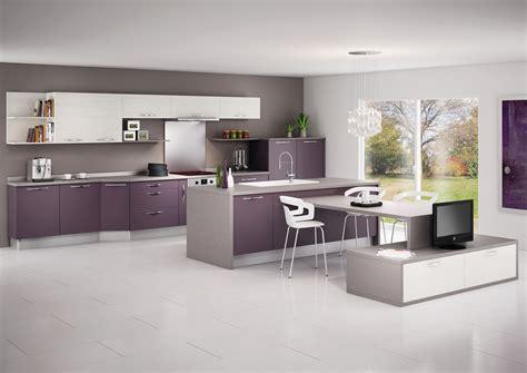 cuisine blanc et violet cuisine moderne noir et violet