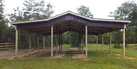 Steel Pole Barn Kits by Photos Pole Barn Kits Florida Metal Trusses Backwood