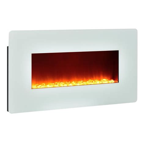 altra kenna  wall mounted electric fireplace  white