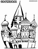 Cathedral Coloring Pages Church Building Sheet Colorings sketch template