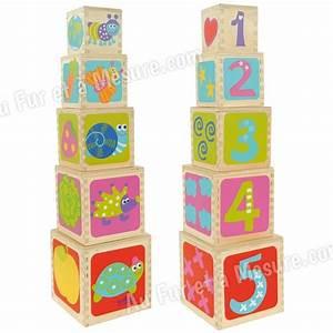 Cube En Bois Bébé : pyramide 5 cubes empiler en bois boikido ~ Melissatoandfro.com Idées de Décoration