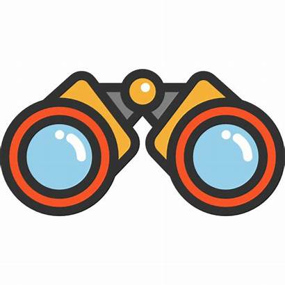 Binoculars Icon Spy Goggles Eye Icons Utensils