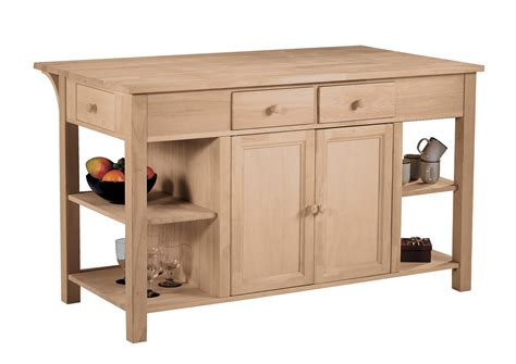 unfinished furniture kitchen island kitchen island with breakfast bar wc 6034 parawood