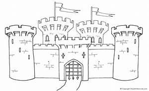coloring pages of castles with draw bridge | Click on the ...