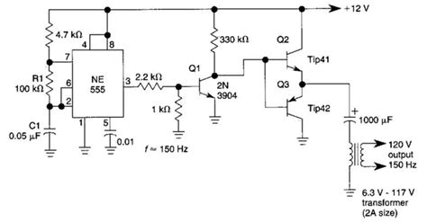 simple dc ac inverter circuit diagram electronictheory