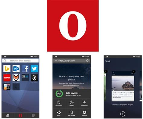 opera mini for windows phone gets a reved design