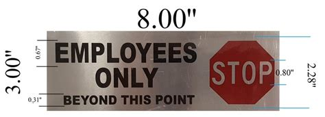 Employees Only Sign– Brushed Aluminum (3x8)