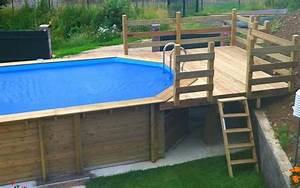 Piscine Avec Terrasse Bois : piscines terrasses bois ~ Nature-et-papiers.com Idées de Décoration