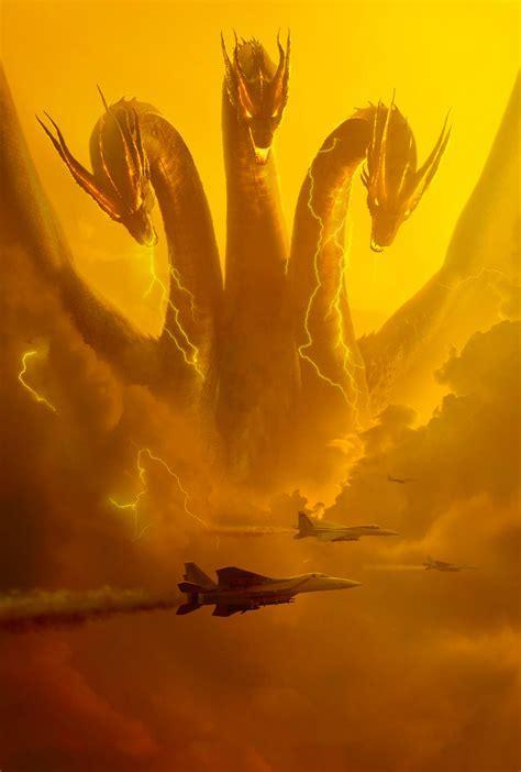 Godzilla: KOTM (2019) textless poster : GODZILLA