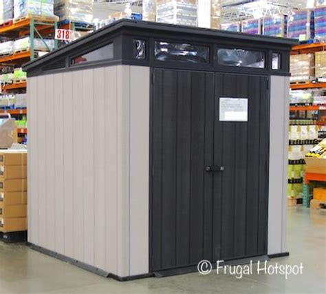resin shed costco costco sale keter 7 x 7 resin outdoor storage shed 559