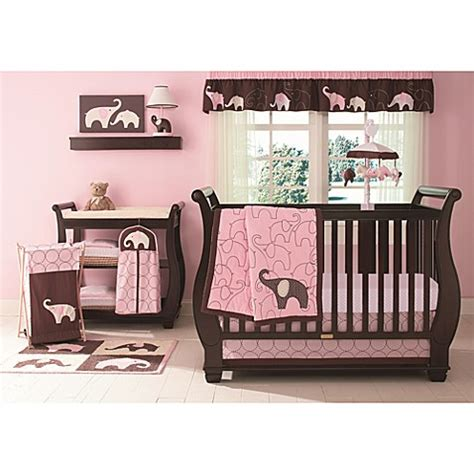Buy Carter's® Pink Elephant 4piece Crib Bedding Set From