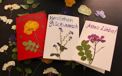 Blätter Pressen Wie Lange by Bastelanleitung Gl 252 Ckwunschkarten Aus Gepressten Bl 252 Ten