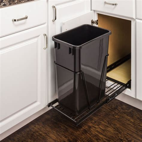 in cabinet trash can single trash can pullout 15 inch cabinet all cabinet parts