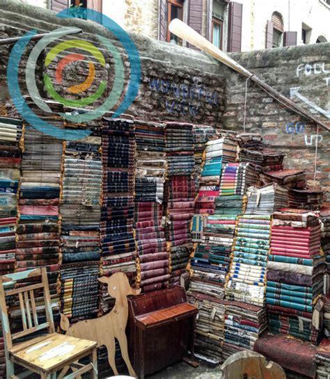 libreria acqua alta  original bookstore  venice italy