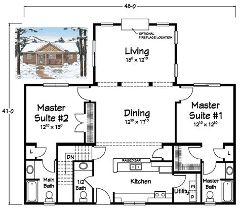 house plans with in suites two master suites ranch plans kitchen