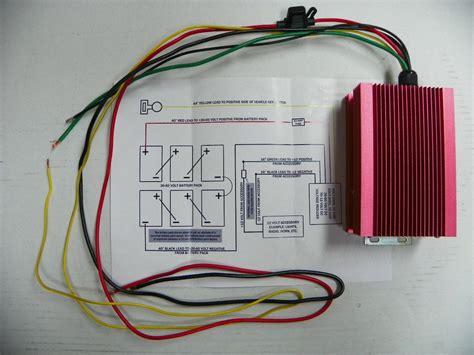 48 Volt Wiring Diagram Reducer golf cart 36 48 volt 20 voltage reducer converter club