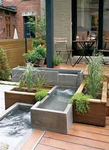 amenagement de fontaine en terrasse deco amenagement With fontaine exterieure de jardin moderne 10 amenagement de jardin et terrasse moderne en 42 photos
