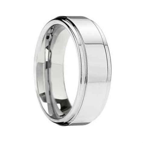 6mm White Tungsten Wedding Ring  A Trusted Wedding Source