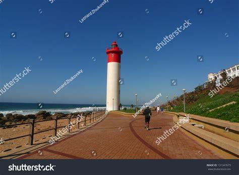 Boat House Umhlanga by Durban Boardwalk Along Indian Umhlanga Stock Photo