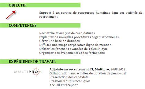 bureau des ressources humaines l 39 œil du recruteur objectif professionnel dans le cv c