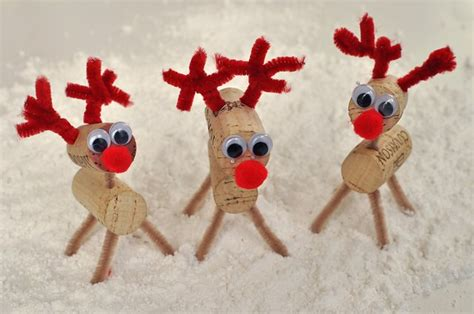 christmas cork crafts cork reindeer
