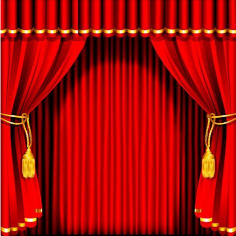 xft merah gelap tirai garis dinding stage custom
