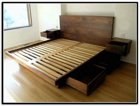 Diy Queen Bed Frame With Storage Bed Frame Building A