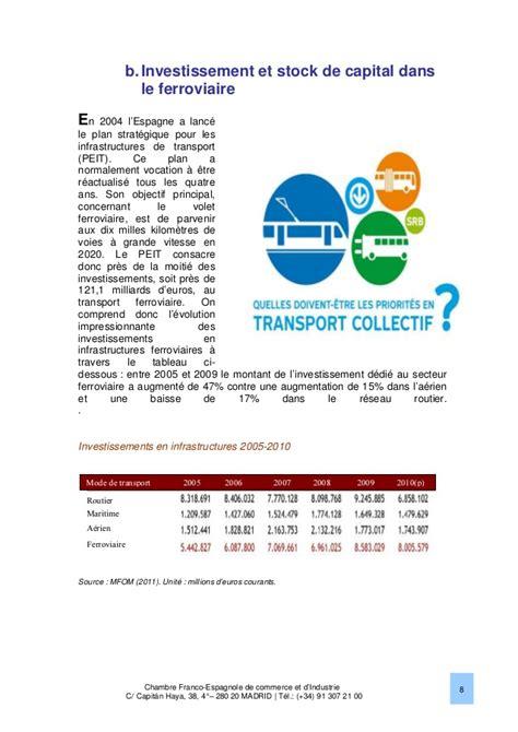 chambre de commerce franco espagnole le marché ferroviaire en espagne 2013 chambre franco