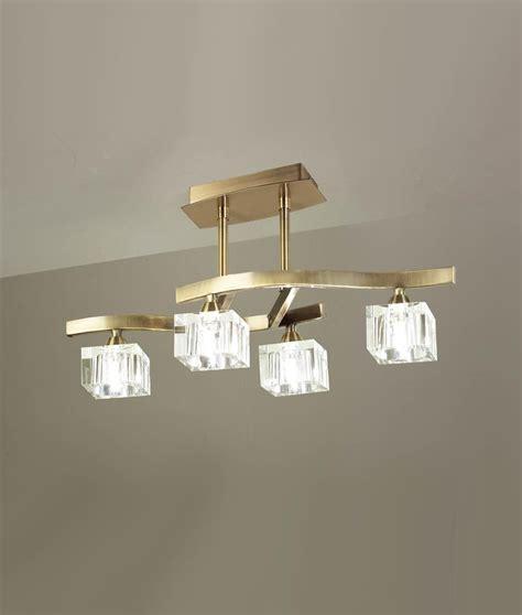 plafon pequeno cuero cristal cuadrax  luces lamparas de
