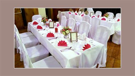 Deko Rot Weiß by Stuhlhussenverleih Tischdeko Hochzeitsdeko