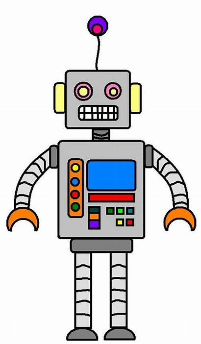 Robot Clipart Cartoon Robots Printable Illustration Drawing