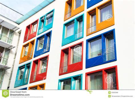 Façade Immeuble Moderne by Fa 231 Ade Color 233 E De L Immeuble Moderne Photo Stock Image