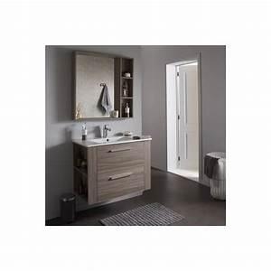 Miroir Meuble Salle De Bain : ensemble meuble de salle de bain miroir couleur olme gris achat vente meuble vasque plan ~ Teatrodelosmanantiales.com Idées de Décoration