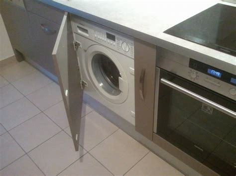 machine a laver cuisine meuble lave linge encastrable lave linge s chant int